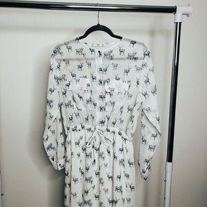 Printed shirt Dress MANGO